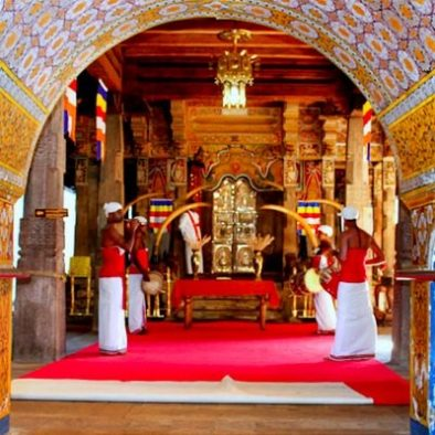 ceremony in the tooth temple of Kandy